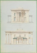 House for Henry Whitney, New Haven, Connecticut (front and side elevations)