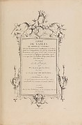 Livre de Tables de Diverses Formes (Title Page)