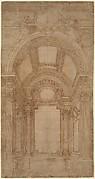 Design for an Elaborate Barrel-Vaulted Chapel.