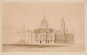 Competition Drawing for the Manchester Town Hall