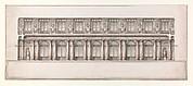 Longitudinal Section of Great Throne Room (Saint George's Hall), Winter Palace, Saint Petersburg