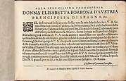Teatro delle Nobili et Virtuose Donne..., page 2 (recto)