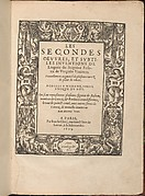 Les Secondes Oeuvres, et Subtiles Inventions De Lingerie du Seigneur Federic de Vinciolo Venitien