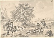 Landscape with Resting Cavaliers and Shepard with Flock