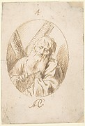 Half-lenth Figure of St. Andrew in an Oval.