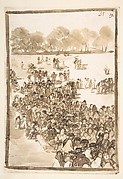 Crowd in a Park, from Images of Spain Album (F), page 31
