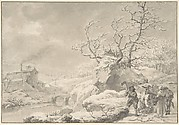 Winter Landscape with Peasants Gathering and Chopping Wood
