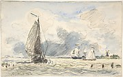 Dutch Fishing Boats, Verso: Sketches of Boats