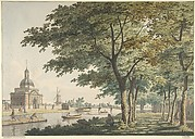The Muiderpoort, Amsterdam, seen from the Plantage