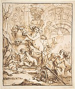 Bacchanalian Scene with Nymphs and Putti