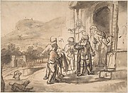 Jacob Receiving Joseph's Blood-Stained Cloak (recto); Study of a Bearded Man and The Sacrifice of Isaac (verso)