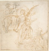 Studies for Figures of Five Angels