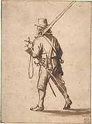 A Walking Musketeer, seen from behind