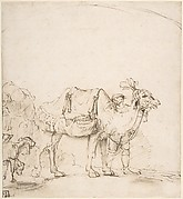 Man Leading a Camel