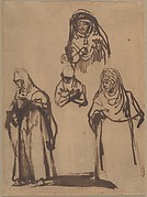 Study Sheet with Three Women and a Boy