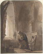 Saint Jerome Praying in His Study