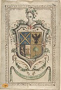 Coat of Arms Surmounted by a Plumed Helmet