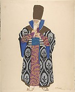 Costume Study for Robed Boyar with White Beard