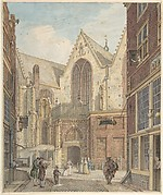 View of the Old Church of Amsterdam