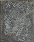 River Landscape with Mountain Stream
