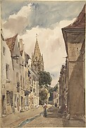 View of Issy (A Street in Issy-les-Moulineaux, Seine)