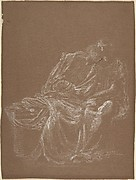 A Seated Couple, Embracing