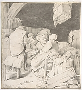 Peasants Gathered at an Inn