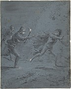 Night scene with soldiers chasing a fugitive (Mark XIV, 5-52)