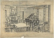 Preliminary Design for a Sitting Room with a Grand Piano