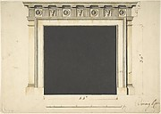 Design for a Chimneypiece with a Classical Cornice, for Ampthill Park, Bedfordshire, Dining Room