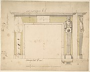 Design for a Chimneypiece (recto); Sketches for Column Bases (verso)