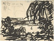 A Blot-Lake with Boat, Surrounded by Trees