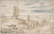 Dutch Landscape with Windmills