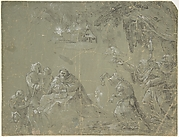 Temptation of St. Anthony (recto); Fantastic Landscape (verso)