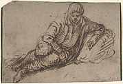 A Reclining Peasant (recto); Study of a Young Man (verso)