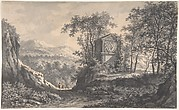 Landscape with an Antique Tomb and Two Wayfarers