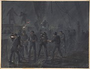 A Night Scene. The cable entangled and nearly broken, July 18th, 1866