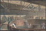 Coiling the Cable in the Large Tanks at the Works of the Telegraph Construction and Maintenance Company of Greenwich, 1865