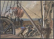 Getting Out One of the Large Buoys for Launching, August 2nd, 1865