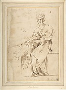 Seated Figure with Cloak and Turban