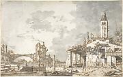 Lagoon Capriccio (recto); Architectural Scene (verso)