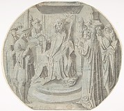 King Ahasuerus in Council