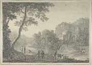 Classical Landscape with Hunters in the Foreground