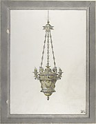 Design for an Incense Burner. Trace of Second Design at Right.
