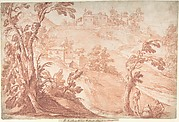 Hilly Landscape with Three Figures