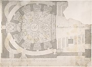 Projection of Ceiling Over Plan of the Small Theater in the Palace at Caserta