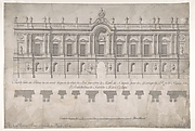 Façade of Palace decorated for the Marriage of the King of Naples to the Archduchess of Austria