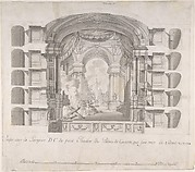 Transverse Section of the Small Theater at the Palace of Caserta, with a View of a Stage Design