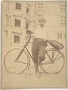 Ernest Flagg, with Bicycle, in front of the Château de Blois