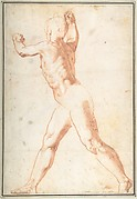 Standing Nude Man (recto); Three Studies of Soldiers (verso)
